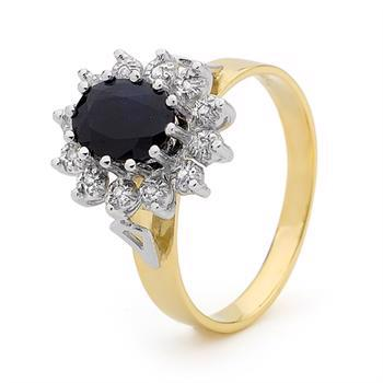 The Kate Middleton Ring - sapphire and diamonds