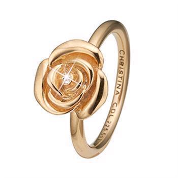 Christina Collect Topas Rose gullbelagt ring med hvit topas, modell 2.19.B