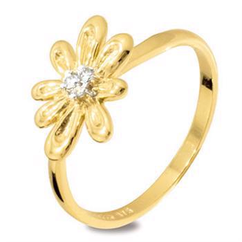 9 ct Diamond Flower Ring