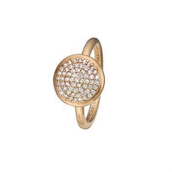 Christina Collect Sparkling World forgyldt ring med hvit topas, modell 5.3.B