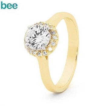 Bee Jewelry Ring, model 25521-CZ