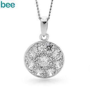Silver Pendant with Zirconia
