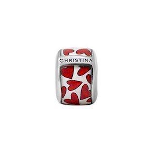 Christina Collect Hearts White silver ring