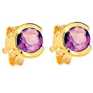 9 ct Amethyst Stud Earrings