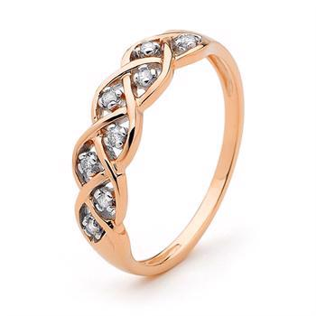 Dreamweaver Ring - 9 kt - Rose Gold and Diamond