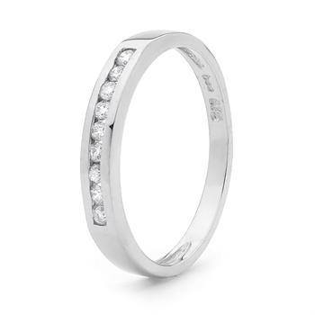 Dainty Diamond set Plait Ring
