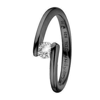 Christina Collect Black silver charm Fingerrings, model 3.14.D