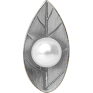 Christina Collect Pearl Leaf silver ring