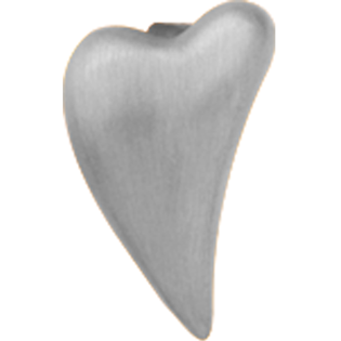 Christina Collect Brushed Heart silver ring