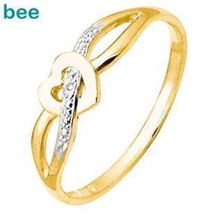 9 ct. gold Heart love ring