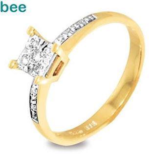 Diamond Solitaire Look Ring 0.09 Carat