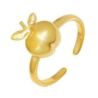 9 ct gold toe ring with an apple
