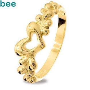 9 ct Solid Gold Free Form Love Ring