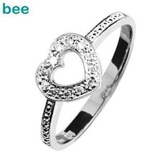 White gold Diamond set Sweetheart Ring