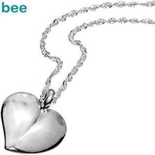 Sterling Silver Heart-Shaped Pendant with Cubic Zirconia