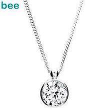 Large Cubic Zirconia pendant Silver