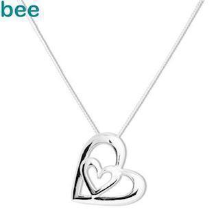 Sterling Silver Heart in Heart Pendant